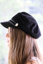 Womens Black Hat Feather Fox Boutique
