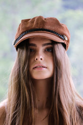 Burnt Brown Conductor Corduroy Women's Cap