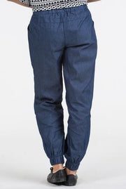 Womens Jogger Pant in Denim Colour