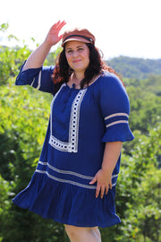 Fremantle Royal Blue Boho Dress