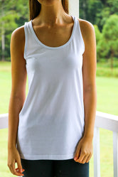 Basic Regular Ice White Singlet