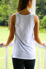 Womens Ice White Singlet Feather Fox Boutique