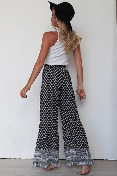 Gypsy Flow Women's Pant Black and White