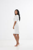 Camille Sheath Dress - White