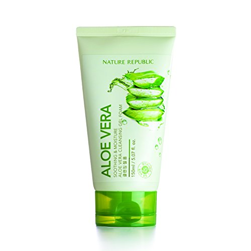 Soothing And Moisture Aloe Vera Cleansing Gel Foam