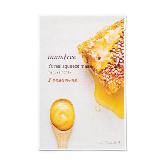 Its Real Squeeze Mask Honey - Sheet Masks Innisfree Free Shipping Somei
