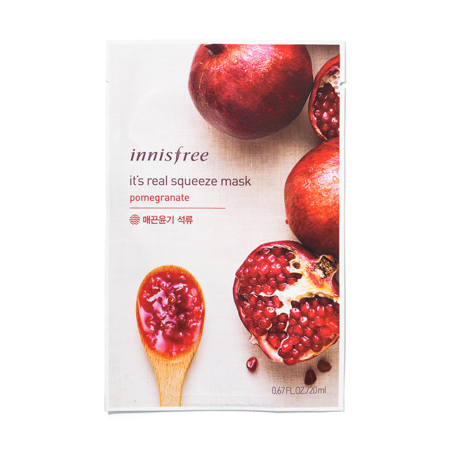 Its Real Squeeze Mask Pomegranate - Sheet Masks Innisfree Free Shipping Somei