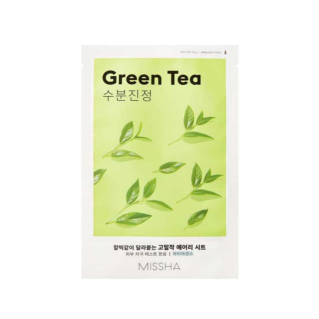Airy Fit Sheet Mask Green Tea | Missha | Free Shipping | Somei