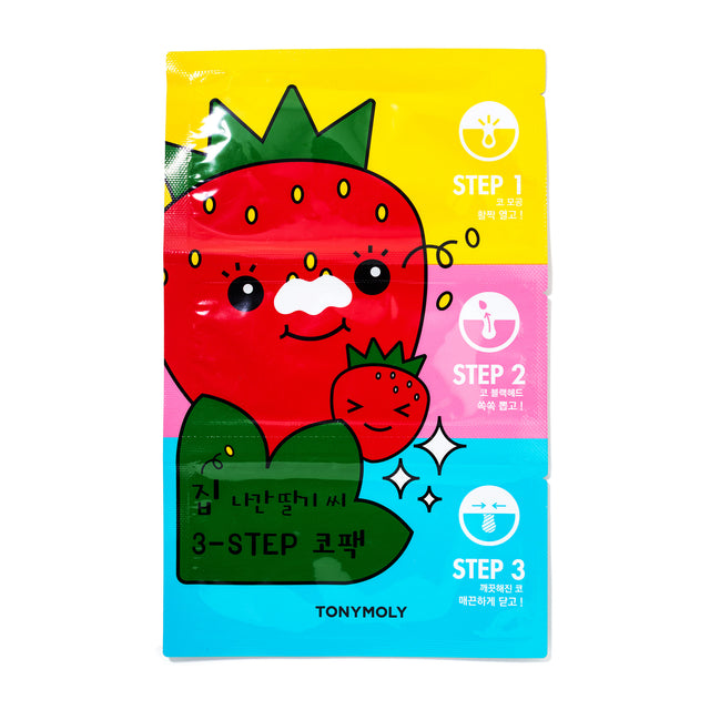 Strawberry Three-Step Nose Pack - Tools Tony Moly Free Shipping Somei