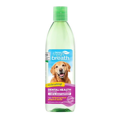 TropiClean Fresh Breath Hip & Joint Water Additive for Dogs/ Cats