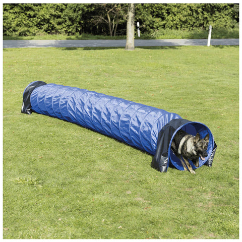 Dog Agility Basic Tunnel, Blue, ø 2 ft. Height / 16.5 ft. Length