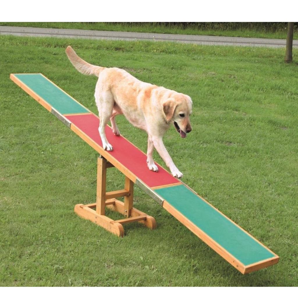 Dog Agility See-Saw, Wooden, 10 x 1.8 ft