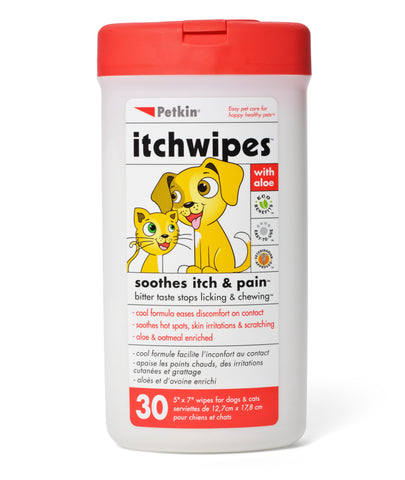 Petkin Itch Wipes - Pack of 2