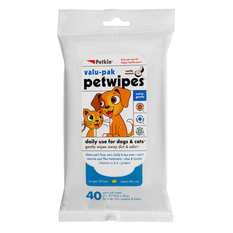 Petwipes Valu-Pak 40 Wipes - Pack of 2