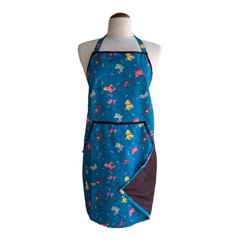 Bathing Apron, One Size Fits All, Blue