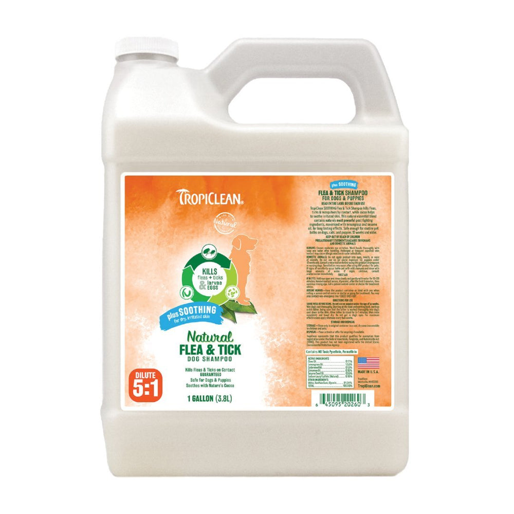 Natural Flea & Tick Shampoo Plus Soothing Gallon, 3.8 litres - ABK Grooming