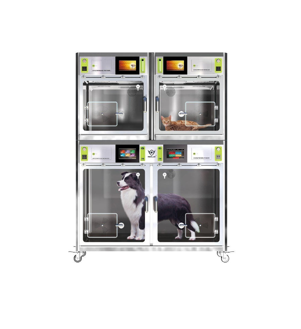 Stainless Steel ICU Unit - ABK Grooming dog icu pet icu unit pet icu veterinary icu icu for dogs dog in icu icu dog