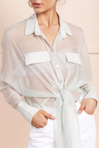 Adella Shirt - Pale Blue