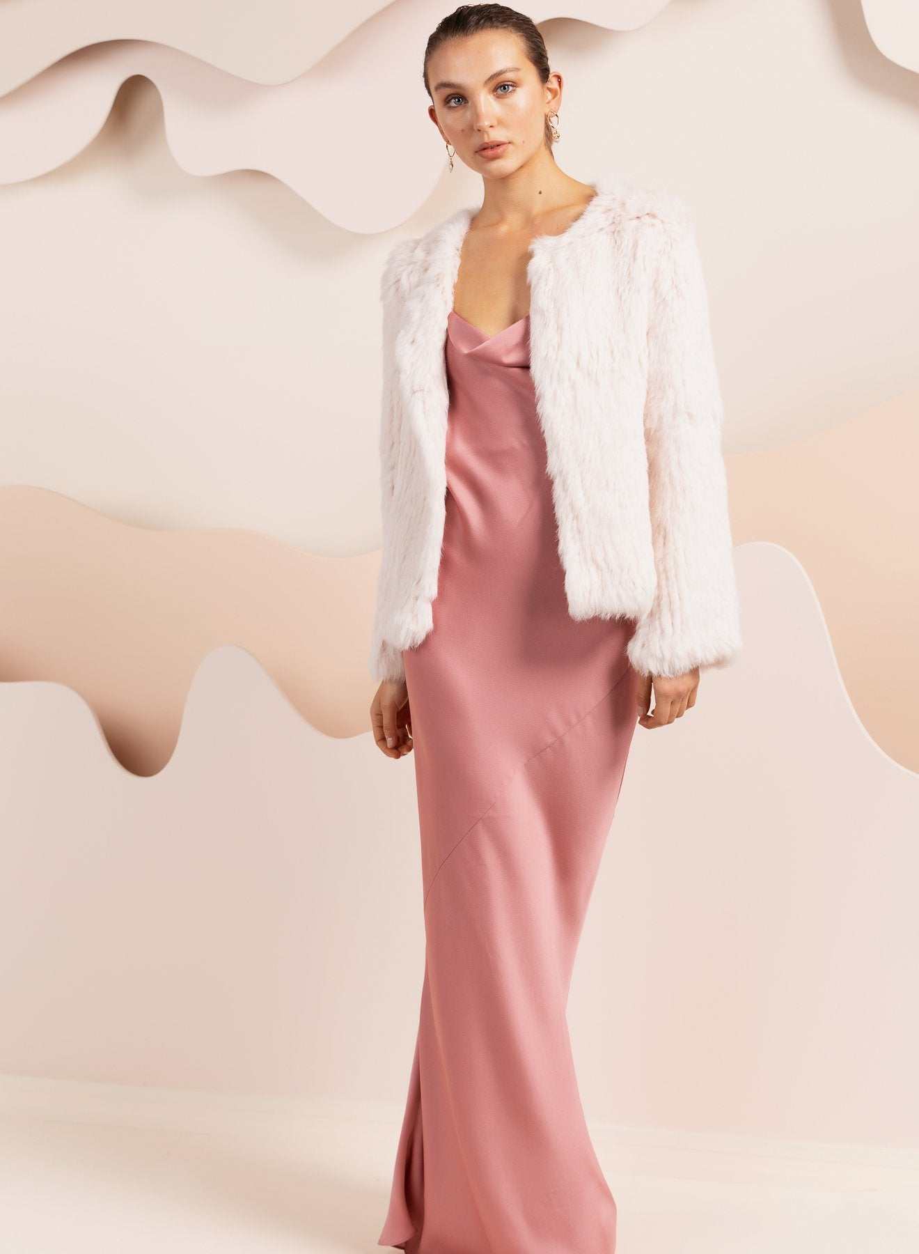 Coletta Blush Fur Jacket