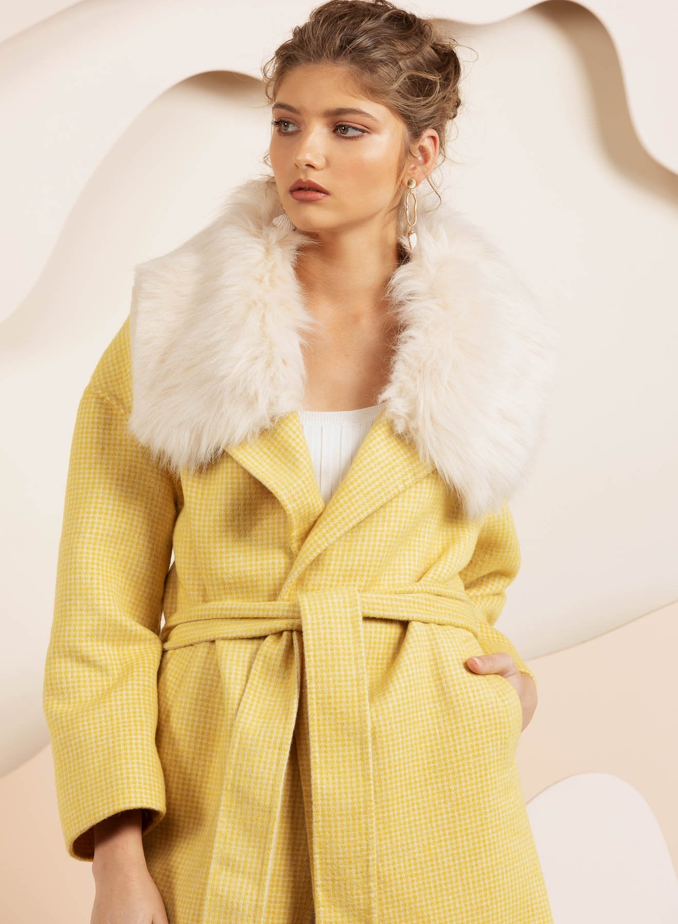Yellow twead yellow coat by bubish