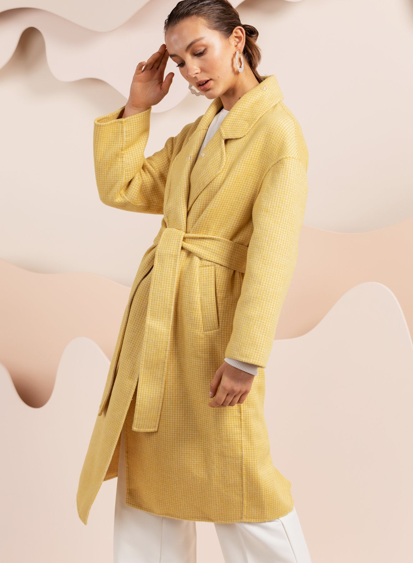 Yellow long line coat