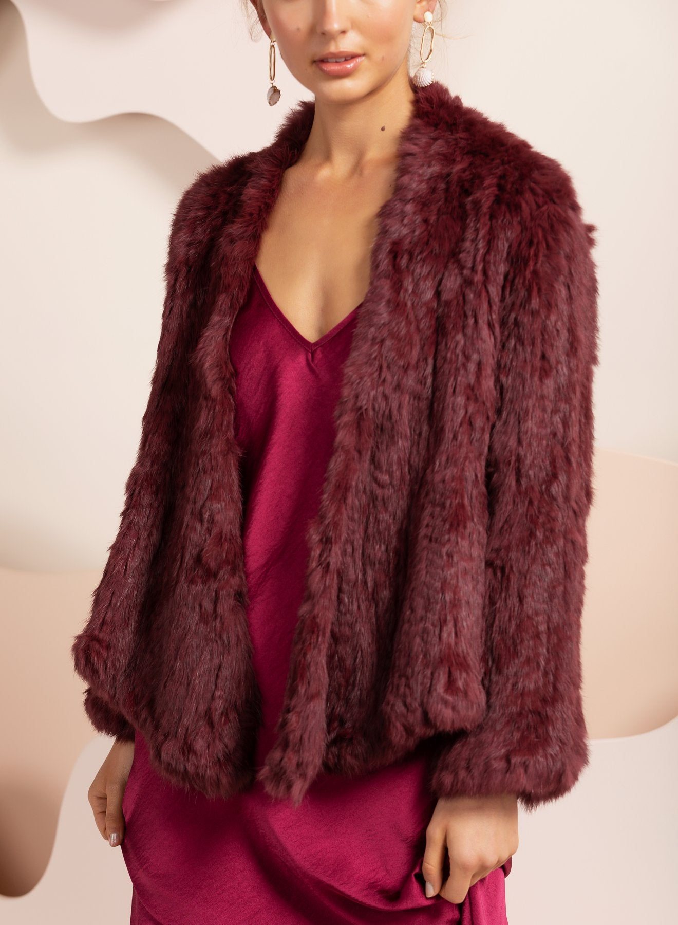 Valencia Wine Fur Jacket