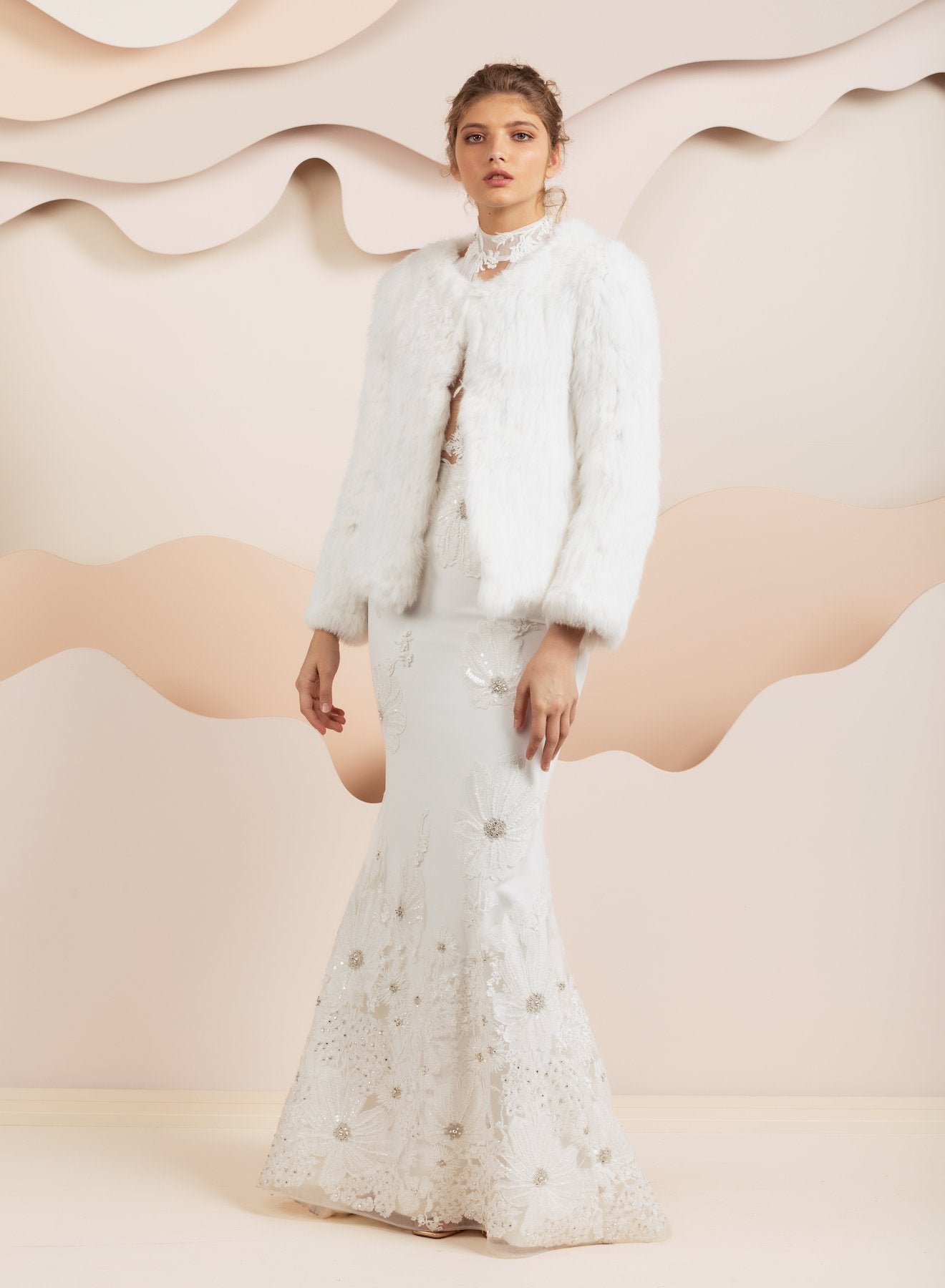 Coletta White Fur Jacket