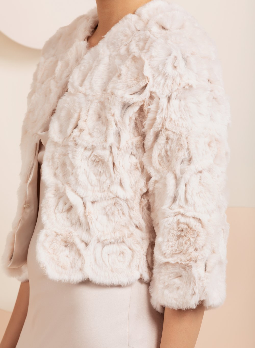 Willow Blush Fur Jacket