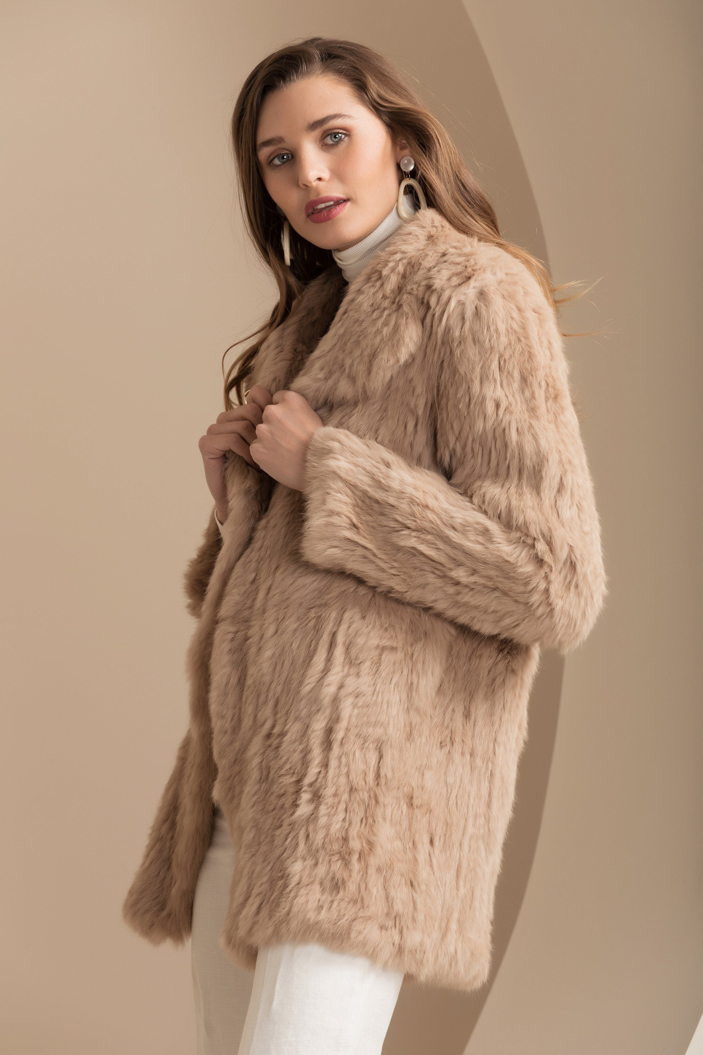 Venice Beige Fur Coat