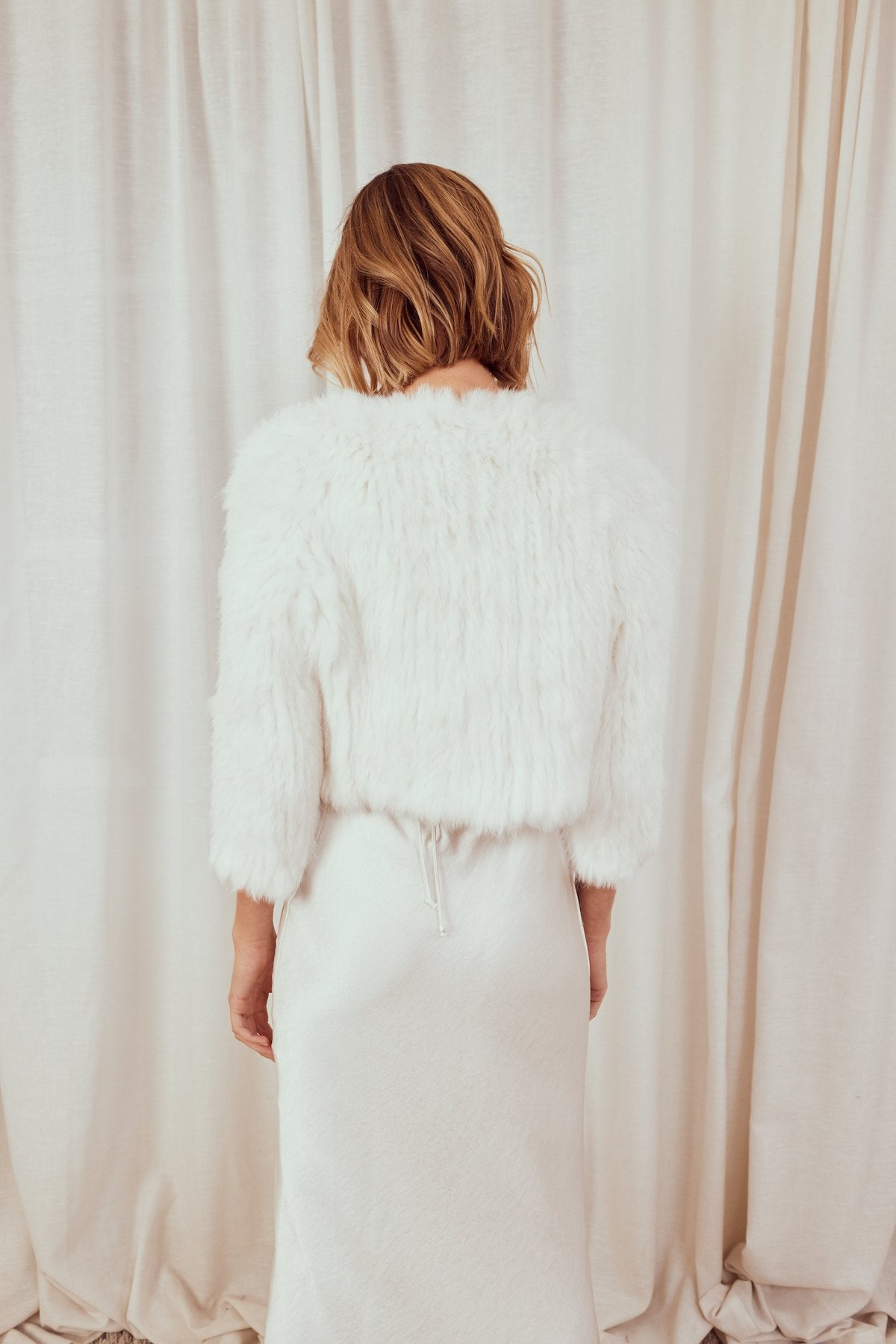 Tammy White Fur Jacket *Pre-Order 10-12 Days Jacket Bubish Luxe Luxe
