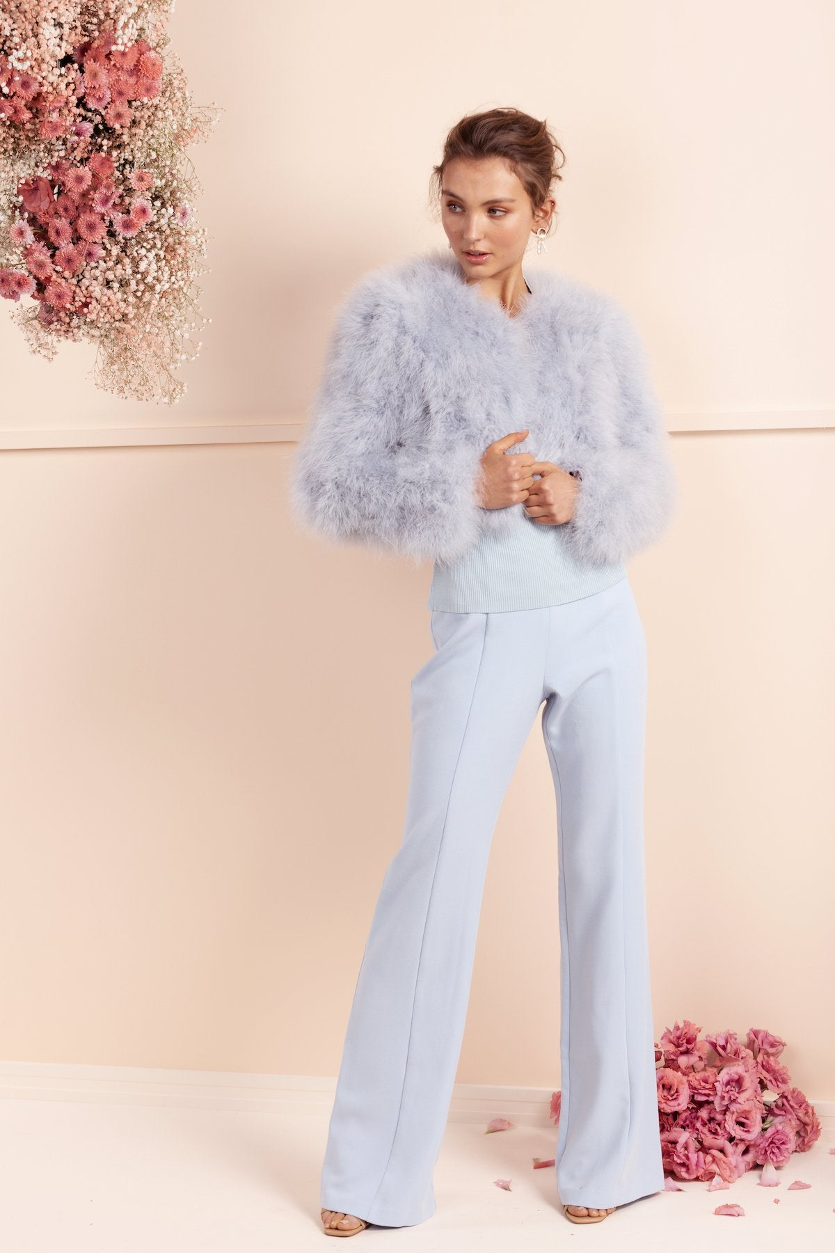 Manhattan Feather Jacket - Pale Blue