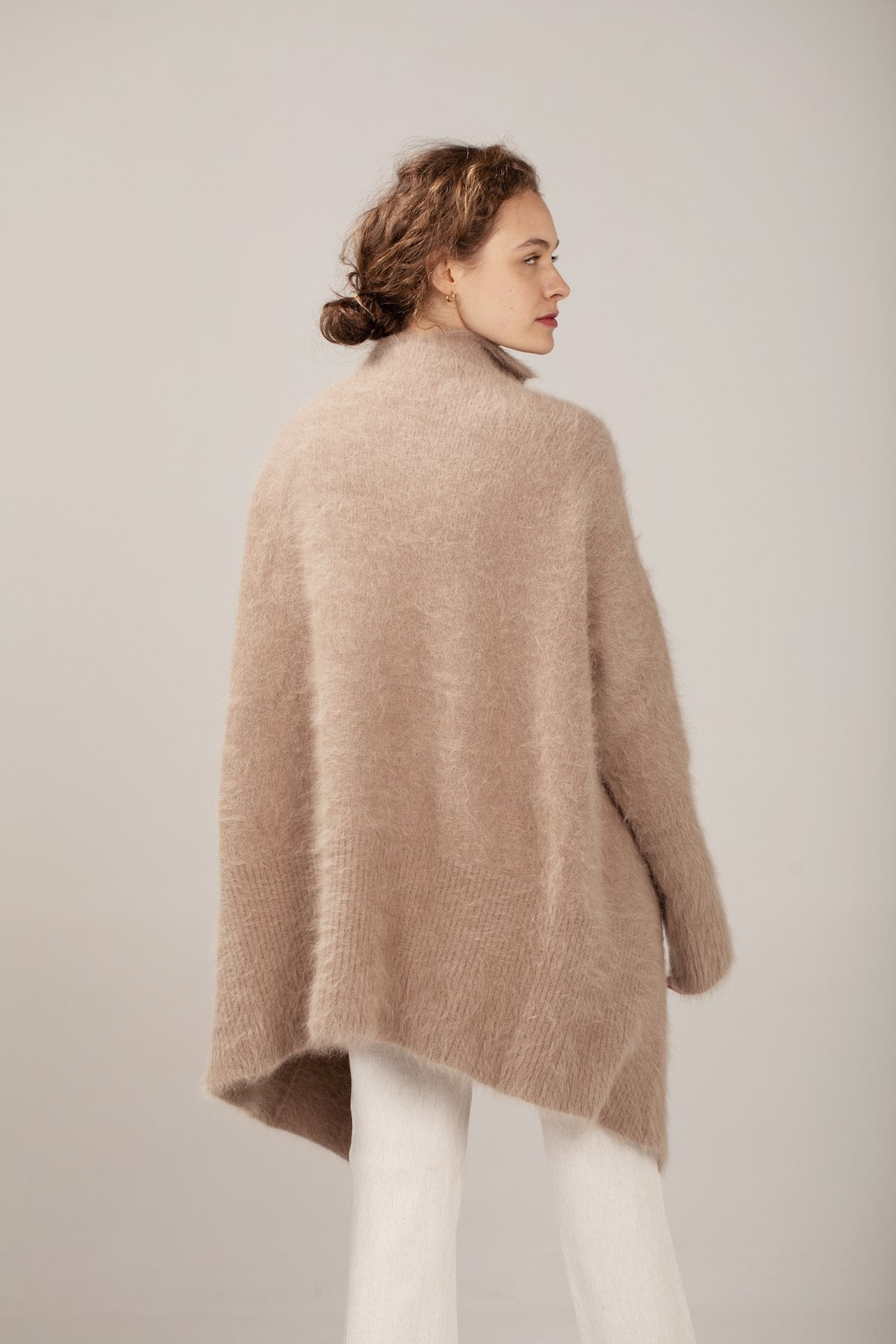 Scandi Cardigan - Light Taupe