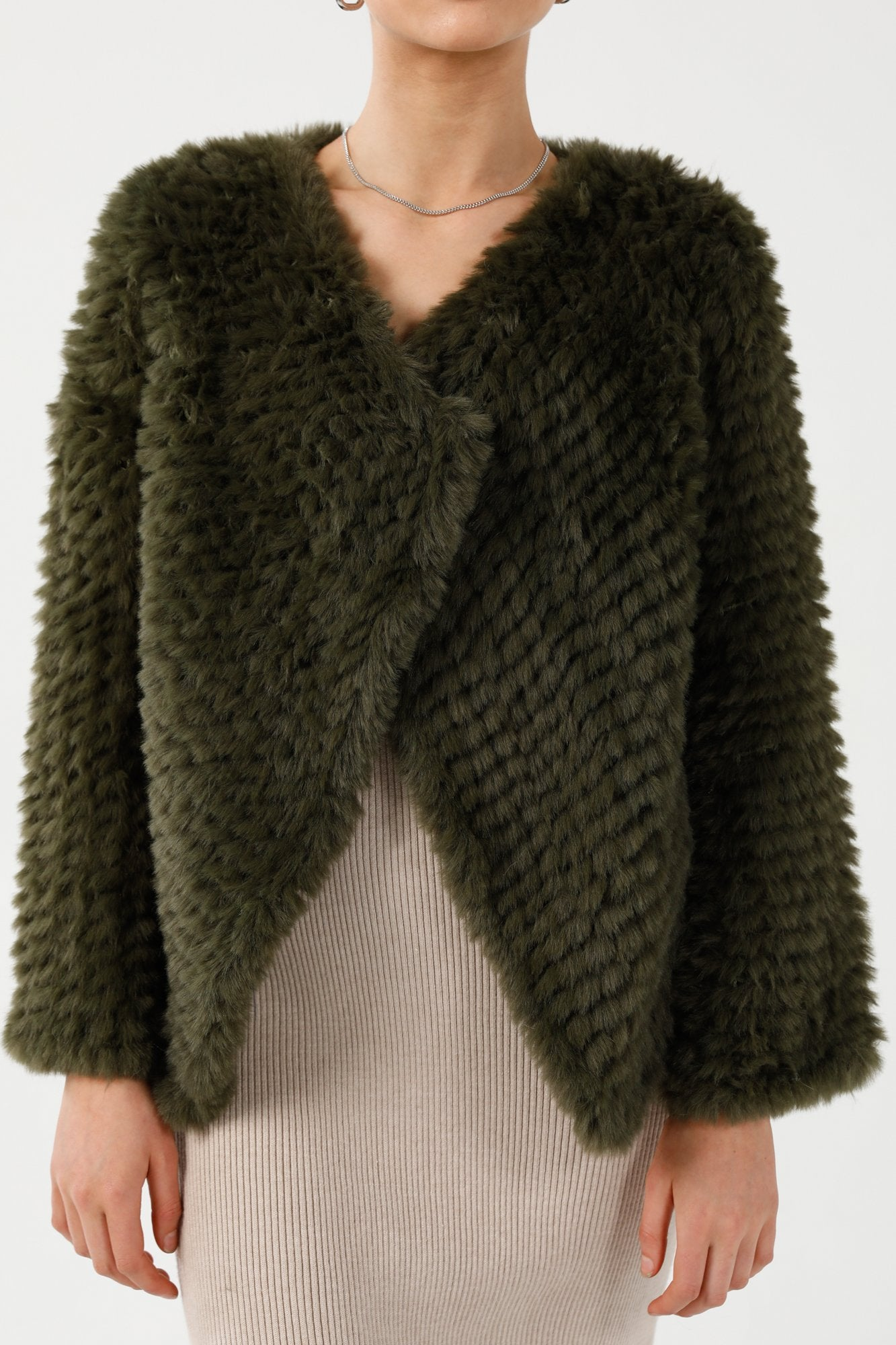Faux Fur Soho Green Jacket