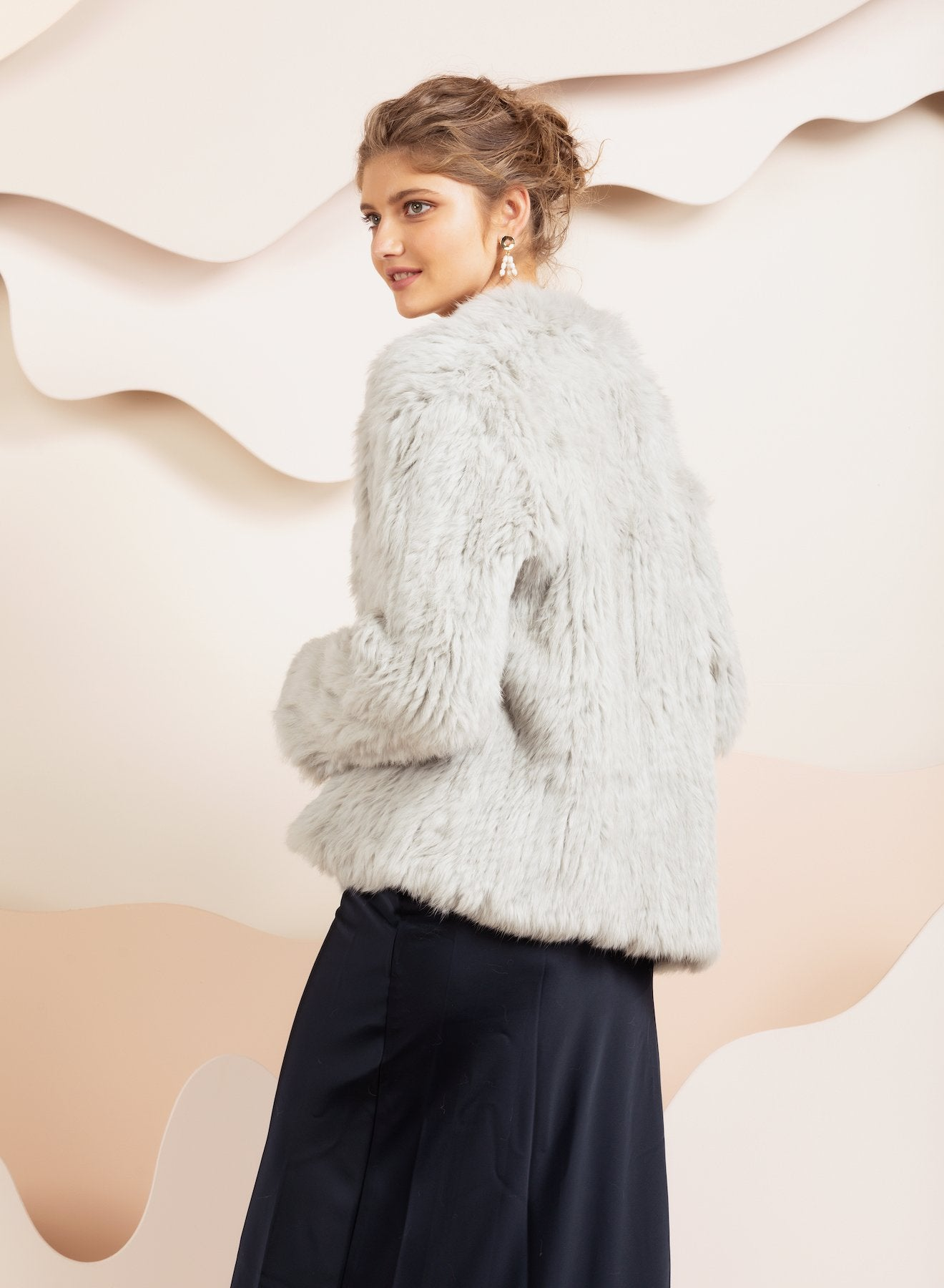 Valencia Light Grey Fur Jacket
