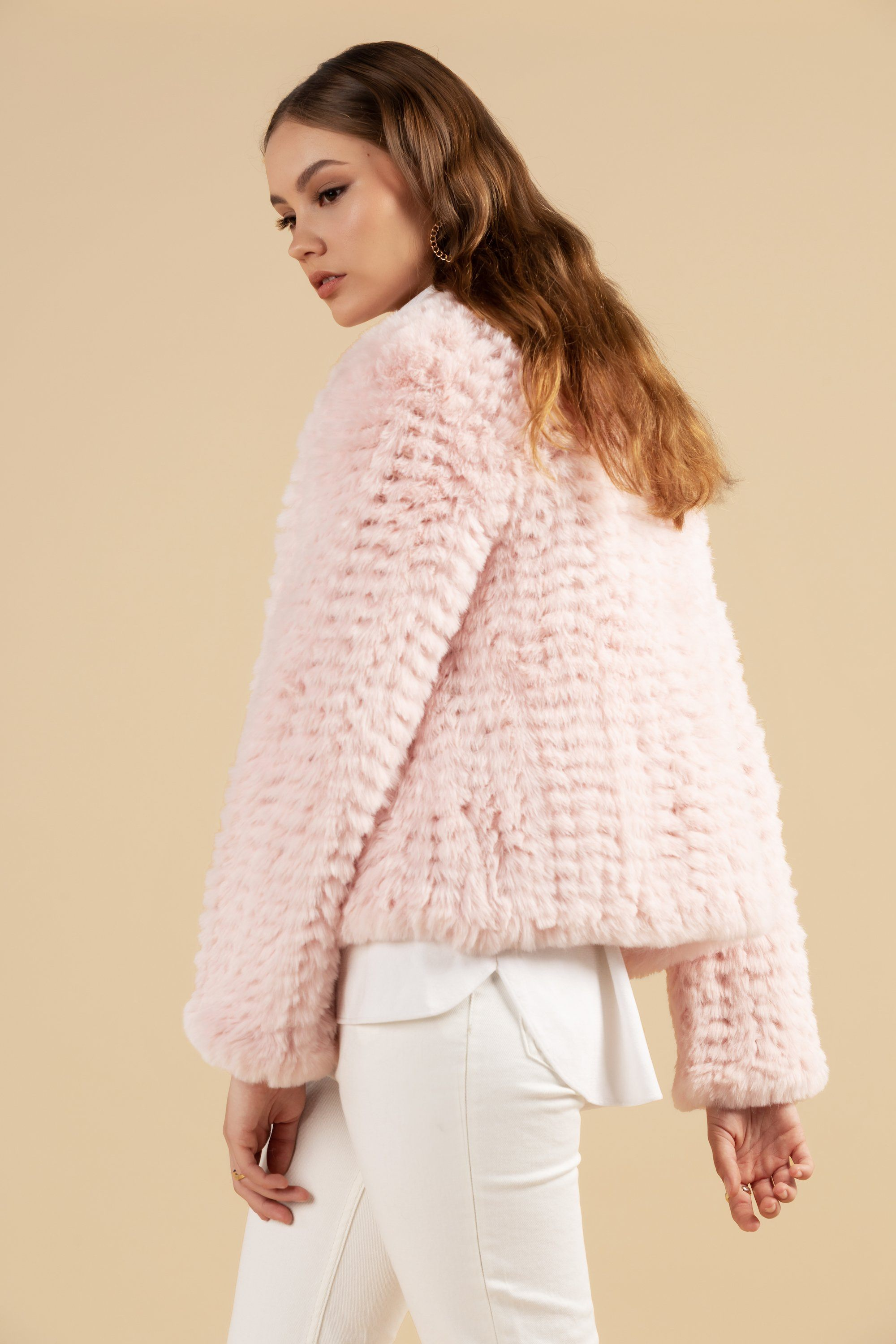 Faux Fur Valencia Blush Jacket