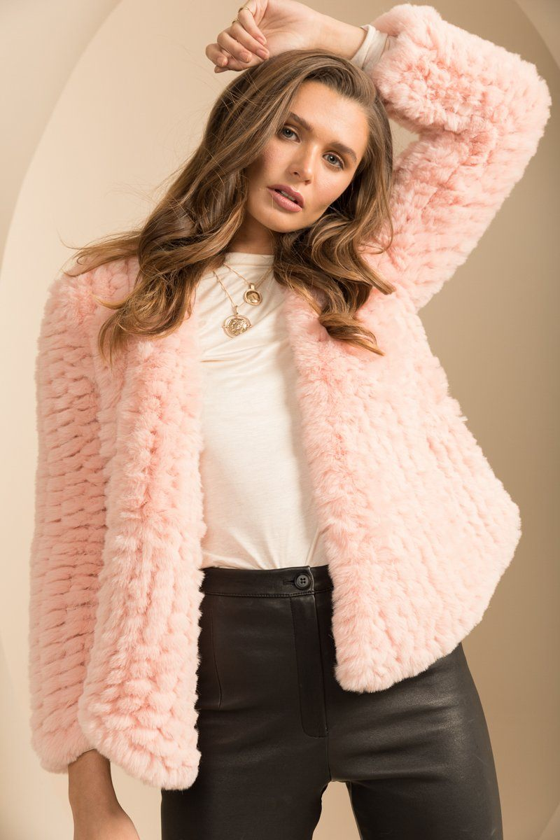 Faux Valencia Lolly Pink Fur Jacket