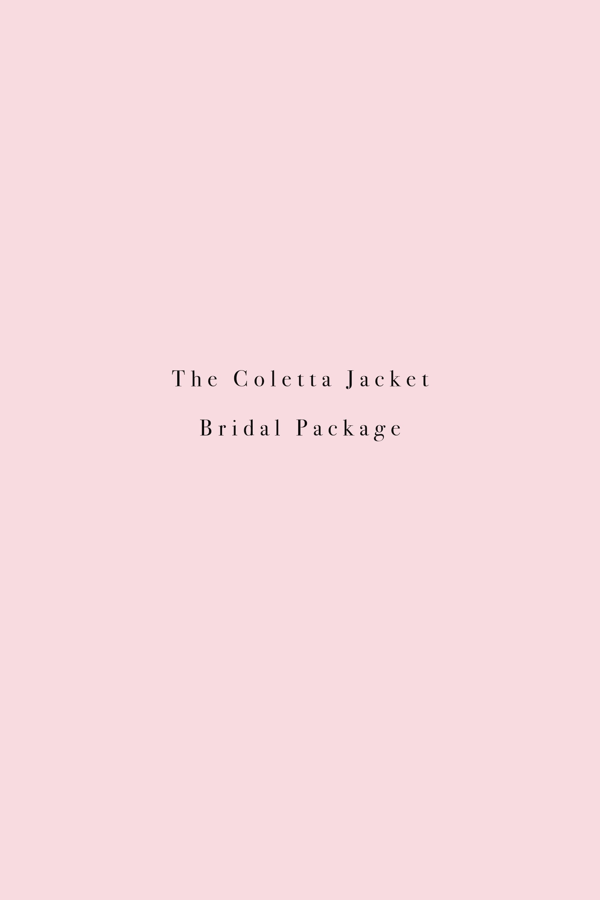 Coletta Bridal Package - 3 x Jackets + 1 complimentary