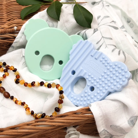 k-BEAR silicone teether, Baby Loves Sleep, One.Chew.Three