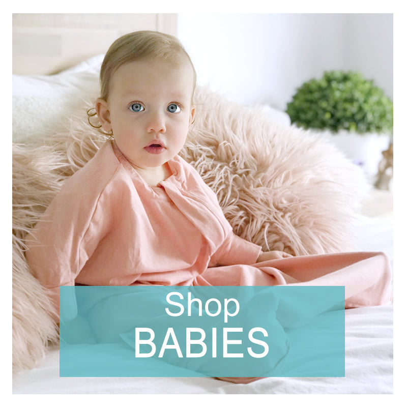 Unique baby sleep suits that help babies sleep deeper and longer.  Helps the startle reflex.  Security and comfort without the arms restriction.