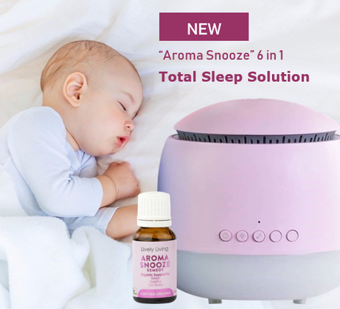 Aroma Snooze Cool Mist Diffuser, Essential Oils
