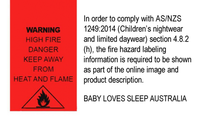 AS/NZS 1249:2014 Standards (Children's Nightwear and Limited Daywear)