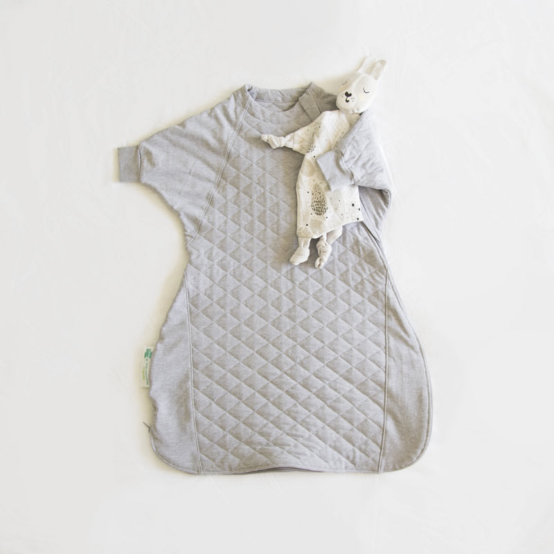 Sleepy Hugs Hands In & Out sleep sack, sleep suit featuring 2TOG quilting with top and bottom opening zippers for easy nappy changes.