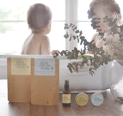 Chia seed oil enriched organic baby skin care and baby bath products
