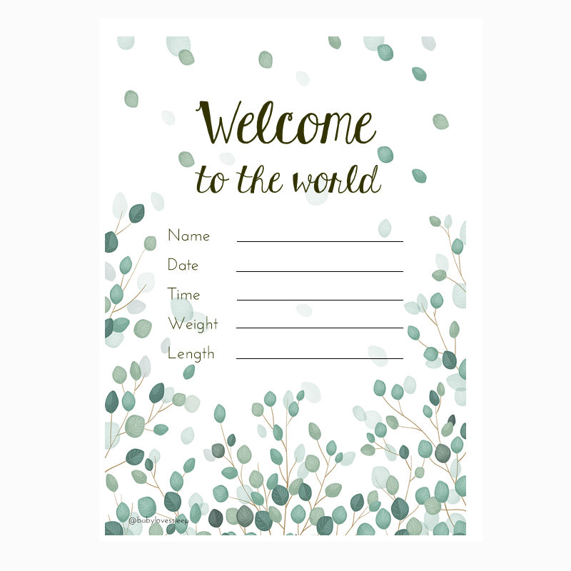 Welcome to the World milestone card