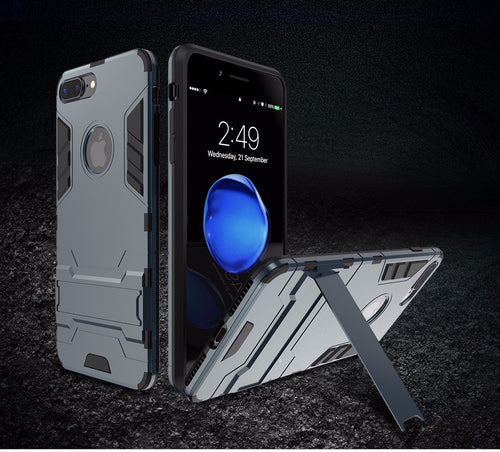 KickStand Armor Case for iPhone 6 6S 7 7Plus Plus Strong Hard Plastic Durable Silicon Cover