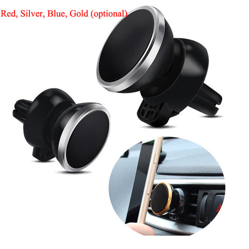 Universal Car Air Outlet Magnet Mobile Phone Holder With 360 Degree Rotate Navigation