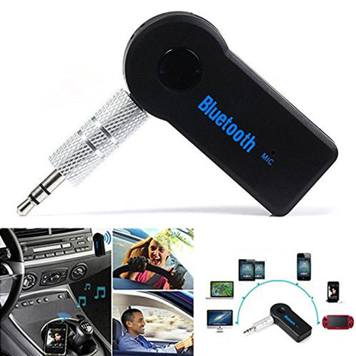 Handfree Car Bluetooth Music Receiver Universal 3.5mm Streaming A2DP Wireless Auto AUX Audio Adapter With Mic For Phone MP3
