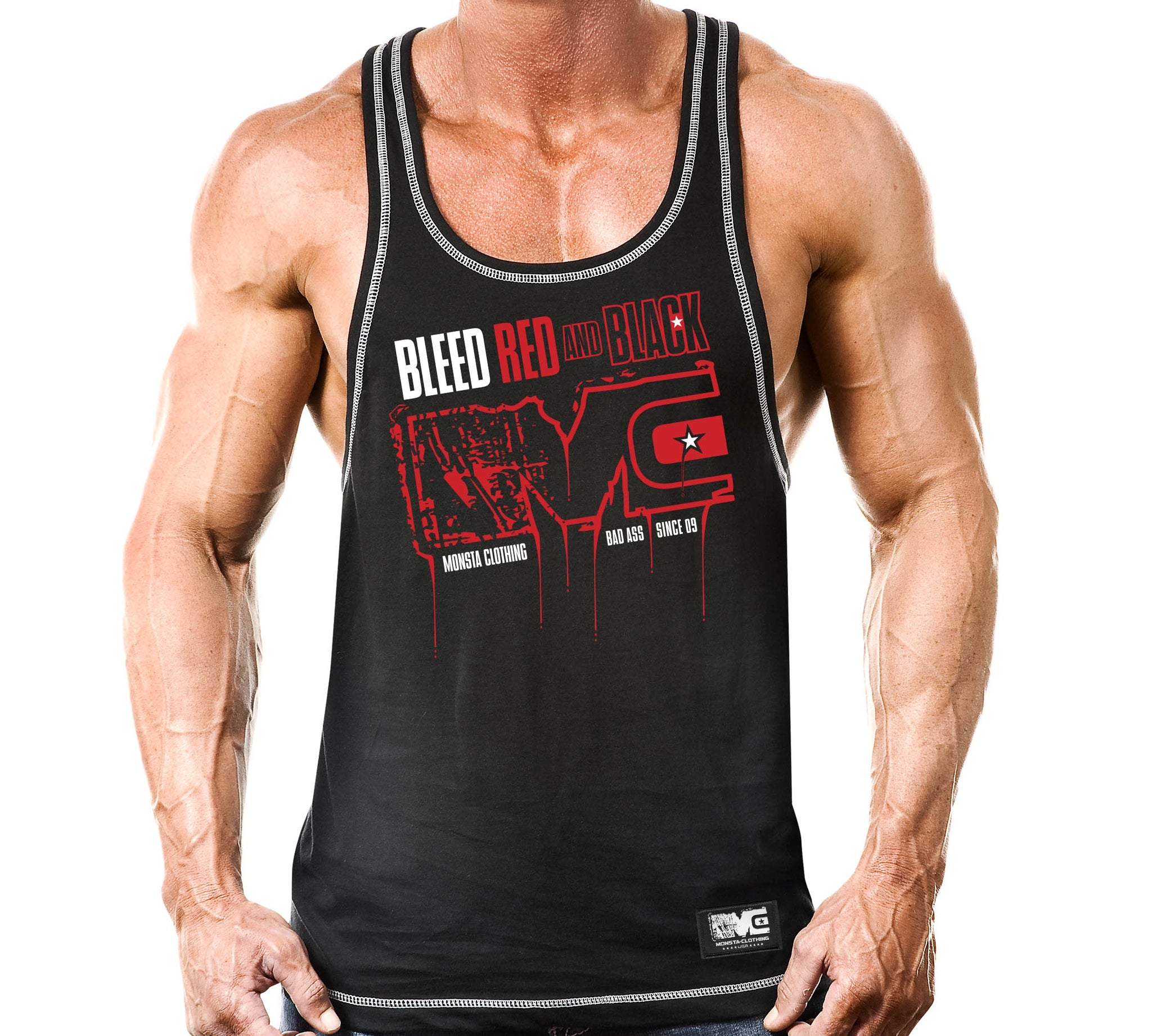 BLEED RED AND BLACK - Monsta Clothing Australia