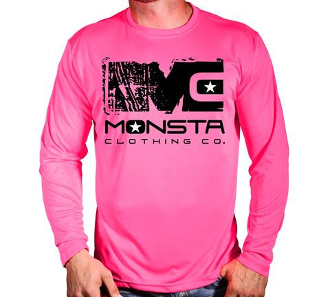 BREAST CANCER POLY L/SLEEVE 107 - Monsta Clothing Australia
