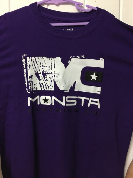 TEE: PURPLE MONSTA CHILDRENS TEE - Monsta Clothing Australia